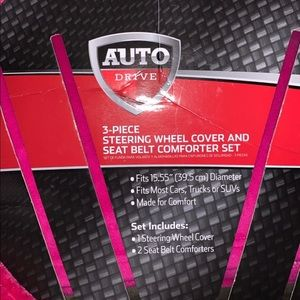 Auto Drivd Other - Auto Drive Hot Pink Steering Wheel Cover Only